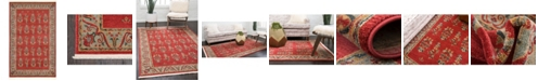 "Bridgeport Home Ojas Oja1 Red 3' 3"" x 5' 3"" Area Rug"