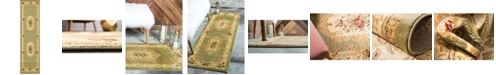 "Bridgeport Home Belvoir Blv3 Green 2' 7"" x 10' Runner Area Rug"