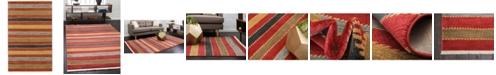 Bridgeport Home Ojas Oja1 Red 5' x 8' Area Rug