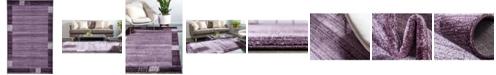 Bridgeport Home Lyon Lyo1 Purple 5' x 8' Area Rug