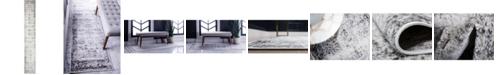 Bridgeport Home Basha Bas1 Gray 2' x 13' Runner Area Rug