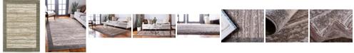 Bridgeport Home Pashio Pas4 Brown 7' x 10' Area Rug