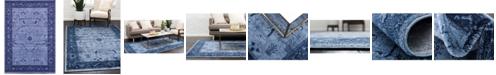 Bridgeport Home Aldrose Ald4 Blue 10' x 13' Area Rug
