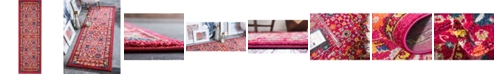 "Bridgeport Home Sana San5 Fuchsia 2' 2"" x 6' 7"" Runner Area Rug"