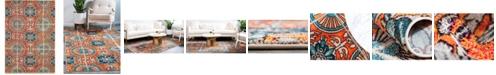 Bridgeport Home Newwolf New5 Orange 7' x 10' Area Rug
