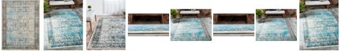 "Bridgeport Home Linport Lin1 Ivory/Turquoise 13' x 19' 8"" Area Rug"