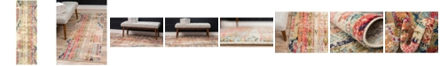 "Bridgeport Home CLOSEOUT! Arcata Arc5 Multi 2' 2"" x 6' 7"" Runner Area Rug"
