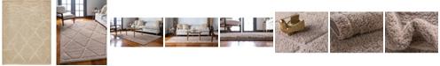 Bridgeport Home Filigree Shag Fil1 Beige 9' x 12' Area Rug