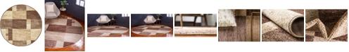 """Bridgeport Home Jasia Jas14 Beige 3' 3"""" x 3' 3"""" Round Area Rug"""