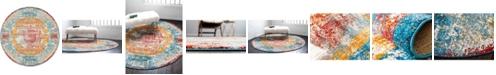 Bridgeport Home Mishti Mis1 Multi 8' x 8' Round Area Rug