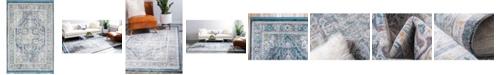"Bridgeport Home Kenna Ken1 Blue 4' 3"" x 6' Area Rug"
