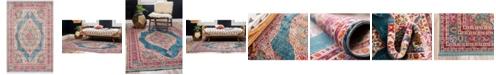 """Bridgeport Home Kenna Ken1 Turquoise 5' 5"""" x 8' Area Rug"""