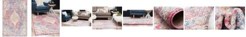 """Bridgeport Home Zilla Zil1 Pink 5' 3"""" x 7' 9"""" Area Rug"""