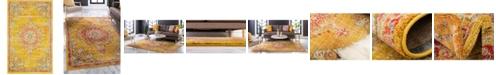 """Bridgeport Home Lorem Lor1 Gold 3' 3"""" x 5' 3"""" Area Rug"""