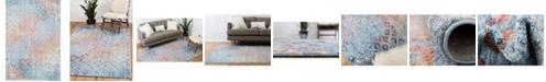 """Bridgeport Home Prizem Shag Prz2 Blue 5' 3"""" x 7' 9"""" Area Rug"""