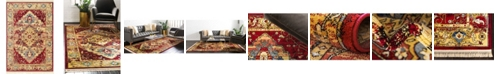 Bridgeport Home Borough Bor3 Red 6' x 9' Area Rug