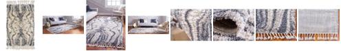 "Bridgeport Home Lochcort Shag Loc4 Gray 2' 2"" x 3' Area Rug"