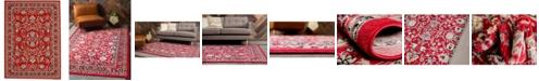 Bridgeport Home Arnav Arn1 Red 7' x 10' Area Rug