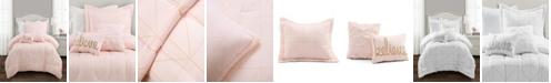 Lush Decor Trio Geo Metallic Print 4-Piece Twin XL Comforter Set