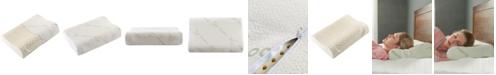 "Cheer Collection Contour Latex Pillow, 15.7"" x 23.6"""