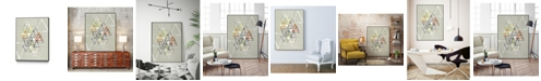 """Giant Art 20"""" x 16"""" Stamped Triangles II Art Block Framed Canvas"""