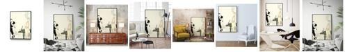 "Giant Art 32"" x 24"" Arte Deco Fashion I Art Block Framed Canvas"