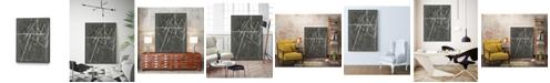 "Giant Art 36"" x 24"" Vertices II Art Block Framed Canvas"