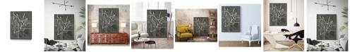 "Giant Art 24"" x 18"" Vertices I Art Block Framed Canvas"