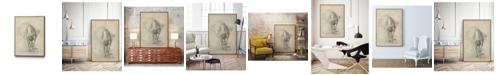 "Giant Art 32"" x 24"" Antique Ballerina Study I Art Block Framed Canvas"
