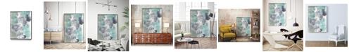 """Giant Art 40"""" x 30"""" Descending Orbs I Art Block Framed Canvas"""