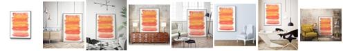 """Giant Art 40"""" x 30"""" Tangerine II Art Block Framed Canvas"""