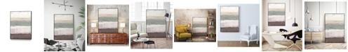 "Giant Art 32"" x 24"" Strata Horizon II Art Block Framed Canvas"