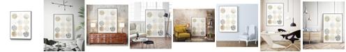 "Giant Art 40"" x 30"" Neutral Pattern Play I Art Block Framed Canvas"