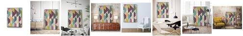 "Giant Art 36"" x 24"" Confetti Prism V Art Block Framed Canvas"