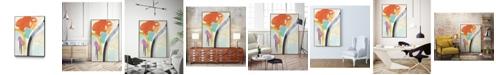 "Giant Art 24"" x 18"" Rhythm Variations II Art Block Framed Canvas"