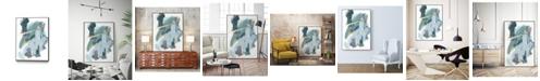 """Giant Art 32"""" x 24"""" Rhythm Rhapsody IV Art Block Framed Canvas"""