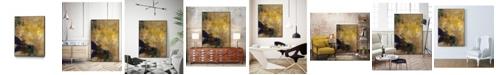 """Giant Art 14"""" x 11"""" Amber Haze II Art Block Framed Canvas"""