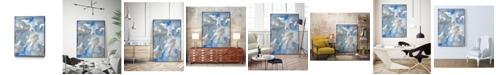 "Giant Art 36"" x 24"" Subtle Blues II Art Block Framed Canvas"