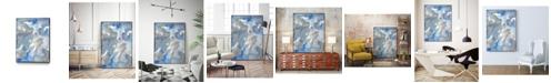 "Giant Art 14"" x 11"" Subtle Blues II Art Block Framed Canvas"