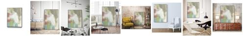 """Giant Art 32"""" x 24"""" Retro Splash I Art Block Framed Canvas"""