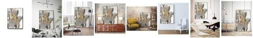 """Giant Art 20"""" x 16"""" Golden Blush II Art Block Framed Canvas"""