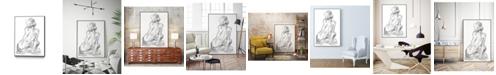 "Giant Art 40"" x 30"" Sitting Pose II Art Block Framed Canvas"