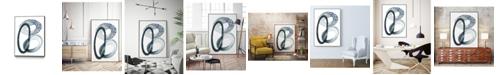 "Giant Art 32"" x 24"" Looping Abstract III Art Block Framed Canvas"