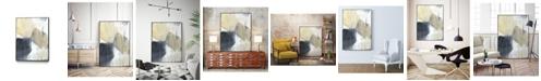 "Giant Art 36"" x 24"" Neutral Divide I Art Block Framed Canvas"
