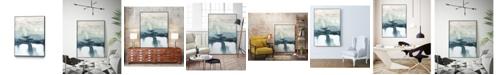 """Giant Art 32"""" x 24"""" Organic Cascade II Art Block Framed Canvas"""