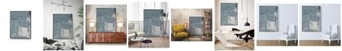 """Giant Art 40"""" x 30"""" Ship Shape V Art Block Framed Canvas"""