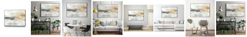 "Giant Art 28"" x 22"" Kinetic Horizon I Art Block Framed Canvas"