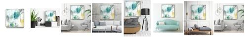 "Giant Art 20"" x 20"" Aquatic Atmosphere II Art Block Framed Canvas"