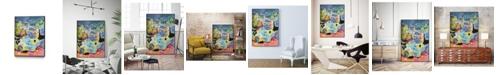"Giant Art 32"" x 24"" Whimsical Pond III Art Block Framed Canvas"