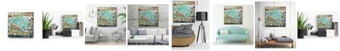 "Giant Art 20"" x 20"" Abstract Marina IV Art Block Framed Canvas"